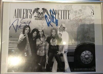 Adlers Appetite Genuine Signed Framed Band Photo Steve Adler Guns And Roses
