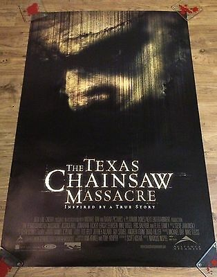 THE TEXAS CHAINSAW MASSACRE Original US One Sheet Movie Poster, Horror