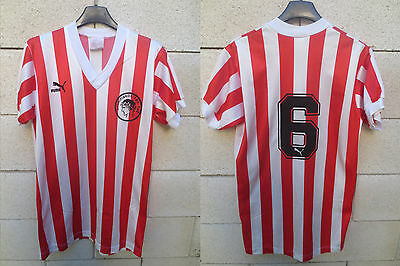 Maillot OLYMPIAKOS n°6 PUMA vintage shirt trikot 1990 football collection 4x5