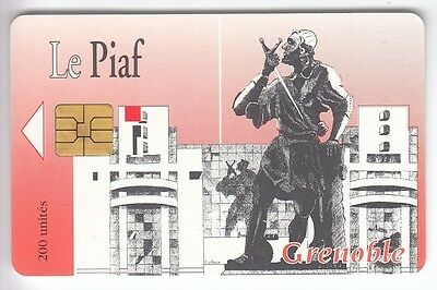 Piaf Parking Carte / Card .. Grenoble 38 200U Art Statue 10/94 5.000Ex Chip/puce