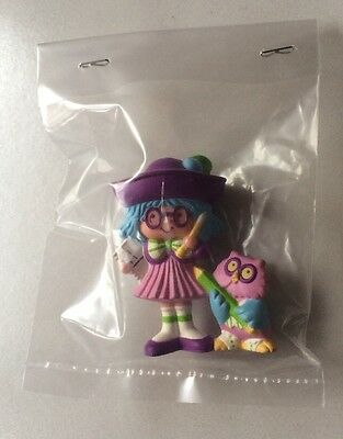 STRAWBERRY SHORTCAKE PVC MINI RARE NEW BAGGIE : PLUM PUDDING w/ ELDERBERRY OWL