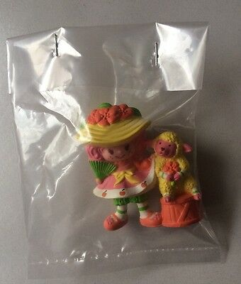 STRAWBERRY SHORTCAKE PVC MINI NEW BAGGIE : PEACH BLUSH w/ Melonie Belle 1984 #2