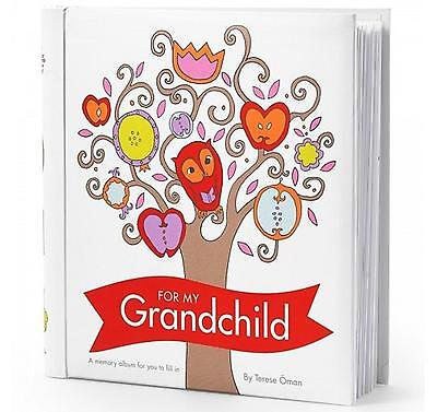 For My Grandchild Memory Album Fill & Tell Padded Record Journal by Terese Oman