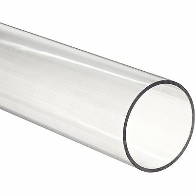 """36"""" Polycarbonate Round Tube (Clear) - 4"""" ID x 4-1/4"""" OD x 1/8"""" Wall (Nominal)"""