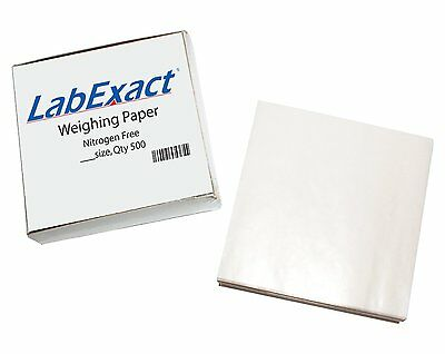 LabExact 1200160 W66 Cellulose Weighing Paper, Nitrogen Free, 6x6 Inch PK/500