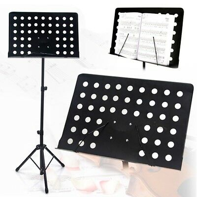 Professional Adjustable Heavy Duty Stage Music Sheet Stand Folding