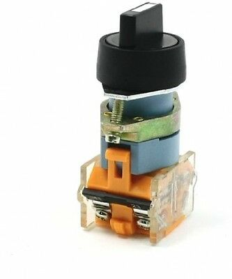 Panel Mounted 4 Screw Terminals DPST NO+NC 2 Position Rotary Switch 660V 10A