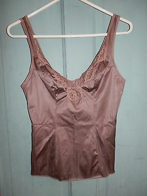 Vintage 80's Vassarette Nylon Cami Camisole 32 Underneath-it-all Raisin Purple