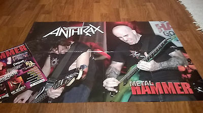 revista METAL HAMMER 214+ mega poster de ANTHRAX / METAL ALL STARS