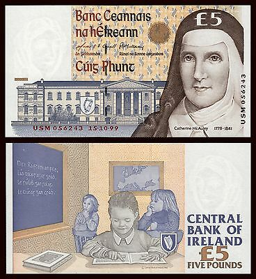 Irlanda - Ireland  5 Pounds 15-10-1999 Pick 75b  SC = UNC