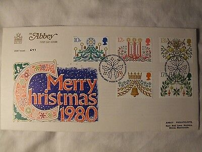 Christmas 1980 Stamps First Day Cover