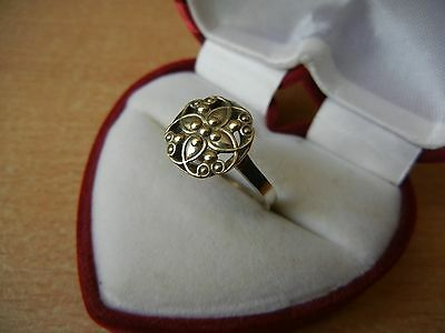 Vintage USSR RING SILVER GOLD PLATED 875 Star Size 9 Star Stamp 1.9 g