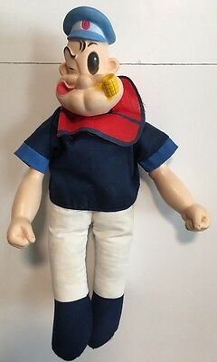 """Vintage 1979 King Features Syndicate 16"""" Popeye The Sailor Man Doll"""