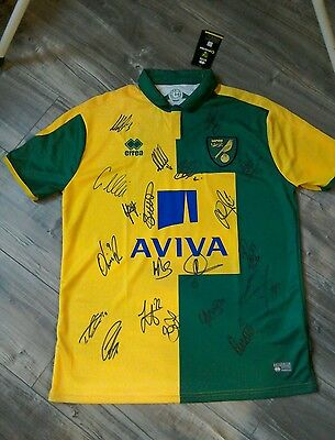 Signed Norwich City Shirt. 2016/17 Squad. Brand New Adults XL Shirt.