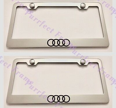 2X Red SUPREME Box Logo Stainless Steel License Plate Frame Rust Free W//Caps