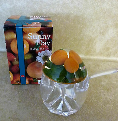 Breakfast Marmalade / Jam Pot Perspex 80s Excellent condition with Spoon and BOX