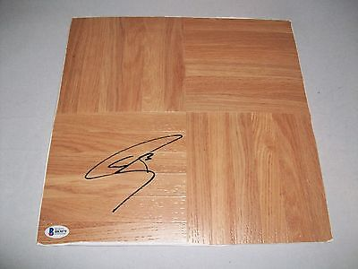 GOLDEN STATE WARRIORS STEPH CURRY signed autographed FLOOR BOARD BECKETT COA