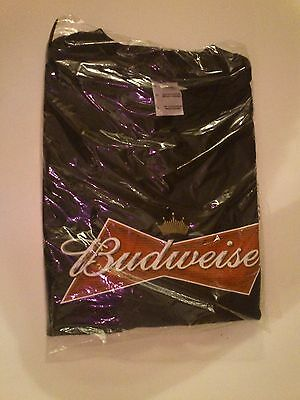 VERY RARE NEW SEALED Bud Budweiser T-Shirt Men's Large OFFICIAL PROMO BEER LOOK!