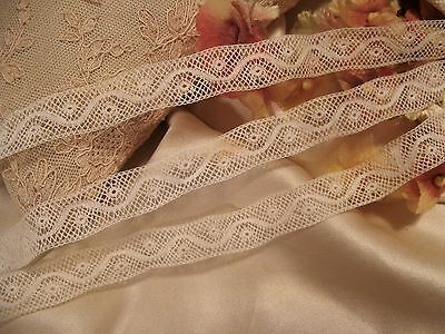 Antique French Val Cotton Insertion Lace Doll Craft Bty