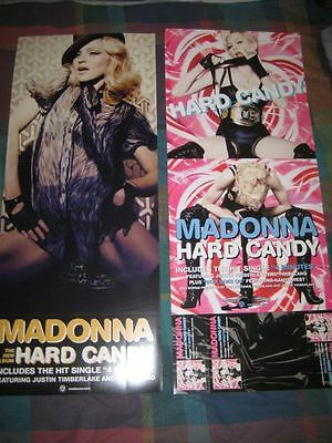 MADONNA-(hard candy)-1 POSTER-2 SIDED-12X30-MINT-RARE