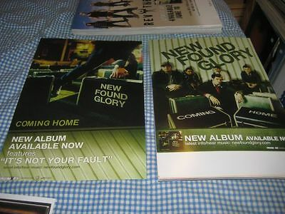 NEW FOUND GLORY-(coming home)-1 POSTER-2 SIDED-11X17-NMINT-RARE