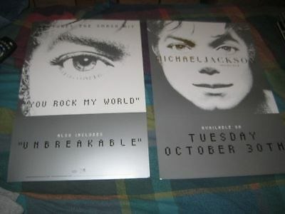 MICHAEL JACKSON-(invincible)-12X18 POSTER-2 SIDED-MINT-RARE