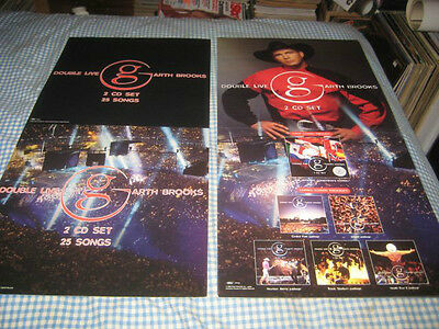 GARTH BROOKS-(double live)-1 POSTER FLAT-2 SIDED-12X24-NMINT-RARE