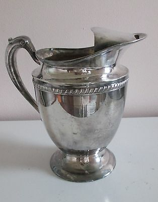 Vintage Forbes Silver Co Silverplate Water Pitcher with Ice Catch Antique K S In