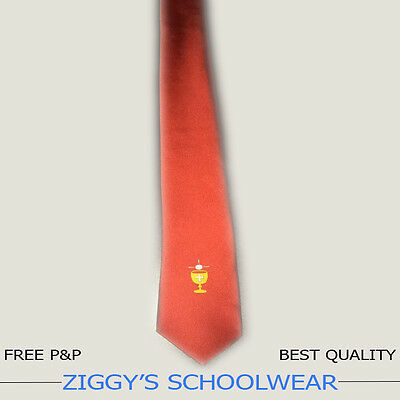 Boys Holy Communion Tie, Full Length Tie, First Communion Tie, Red Chalice Tie