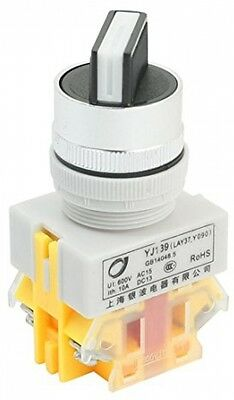 600V 10A NO NC 4-Terminal 2 Position Selector Self-Lock Rotary Switch