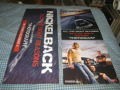 NICKELBACK-(all the right reasons)-1 POSTER-2 SIDED-9X23-NMINT-RARE