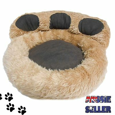 PET BED - Dog Cat Micro Plush Suede Paw Mattress Mat Pad Warm Comfy Soft 55x46cm