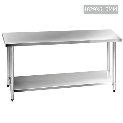 NEW 304 Stainless Steel Kitchen Work Bench Table