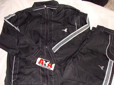 Nwt Ata Matching Workout Jacket & Pant Set Black Sz Child Small~Free Us Ship