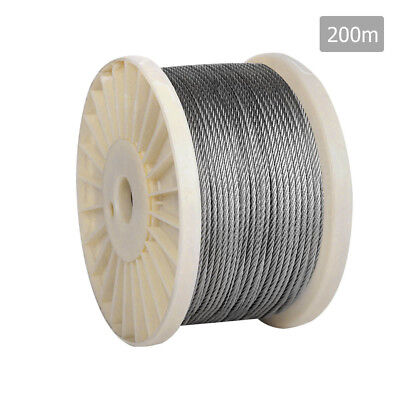 NEW 7 x 7 Marine Stainless Steel Wire Rope 200M