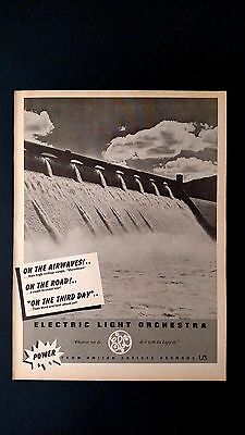 """Electric Light Orchestra """"on The Airwaves!"""" Rare Original Print Promo Poster Ad"""