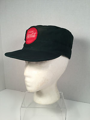 1950's Coca-Cola, Green, Delivery Drivers, Insulated Winter Uniform Hat, w/Patch