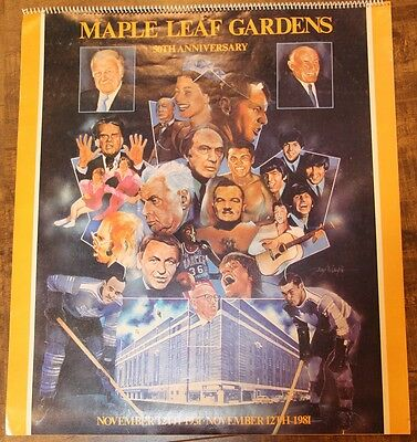 Vintage Maple Leaf Gardens 50th Anniversary Complete Calendar