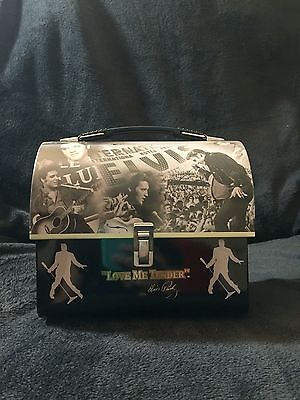 """Lunch Box Tin Elvis Presley """"LOVE ME TENDER"""" 2003 Signature Product"""
