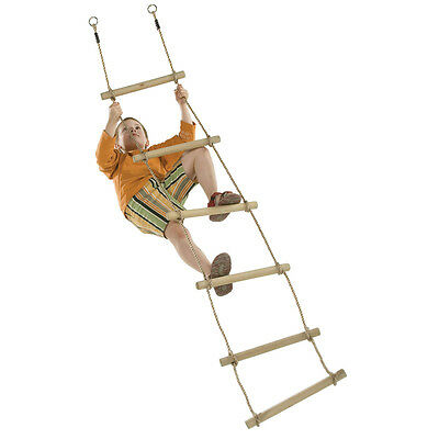 ROPE LADDER 6 RUNGS Climbing Cubby House Accessories Outdoor Equipment Fort Kids