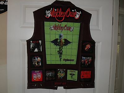 Motley Crue Tribute VEST-Burgundy-L......Iron Maiden,Megadeth,Anthrax,Testament