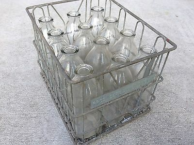 Vintage Milk Crate And Bottles Producers Dairy Ottawa Canada