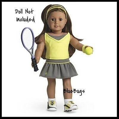 NEW in Box American Girl Retired Tennis Skirt Set Racket Shoes NO DOLL