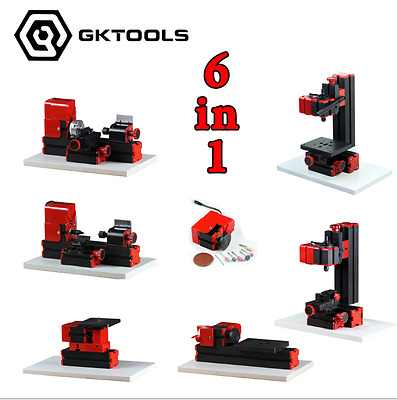 6in1 Mini Lathe Milling Drilling Wood Turning Jag Saw and Sanding Machine DIY To