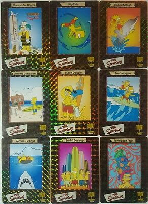 THE SIMPSONS FILM CARDZ Prism Insert Set of 10 s1-10 ARTBOX 2000