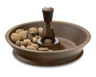 Williams Sonoma wood nutcracker bowl FREE SHIPPING in the USA