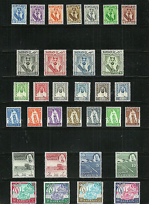 (W1-63)stamps, BAHRAIN Scott#119-140,153-156 mnh/mlh as scan