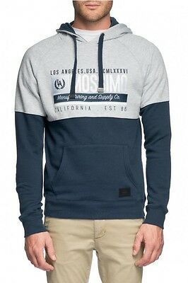Mossimo Men's Reeves Cotton Poly Fleece Hoody Navy BNWT 43% OFF