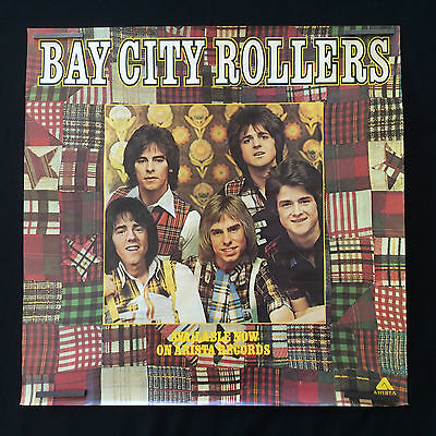 Rare Vintage 1970's Bay City Rollers Original Promo Poster by Arista Records