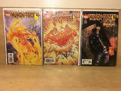 "Marvel HUMAN TORCH��Stan Lee ""Burn"" Vol 1 Series 1-6 Signed by Skottie Young COA"